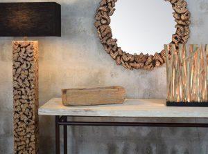 driftwood decor, driftwood lighting, Suna Living