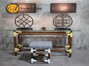 Suna Living wrought metal lamps and tables