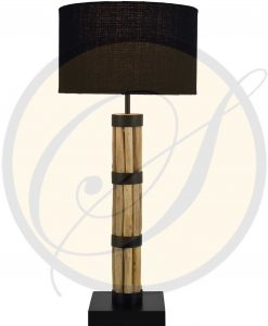 driftwood with metal table lamp by Suna Living